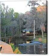 House On The Inlet Acrylic Print