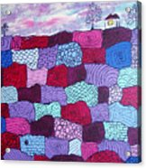 House On Top Of Patchwork Hill Acrylic Print