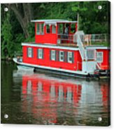 Houseboat On The Mississippi River Acrylic Print