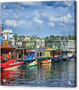 Houseboats - 3 - Lake Union - Seattle Acrylic Print