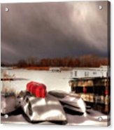 Houseboats In Winter Acrylic Print