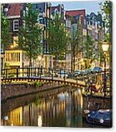 Houses Along Canal At Dusk Acrylic Print