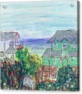 Houses At Whalehead Beach Acrylic Print