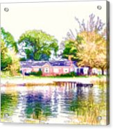 Houses By The Lake 1 Acrylic Print