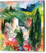 Houses In Montepulciano In Tuscany 01 Acrylic Print
