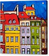 Houses In The Oldtown Of Warsaw Acrylic Print