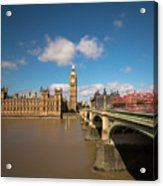 Houses Of Parliament And Westminster Bridge Acrylic Print