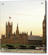 Houses Of Parliament From The South Bank Acrylic Print by Sharon Vos-Arnold