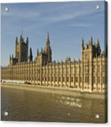 Houses Of Parliament On A Rare Day Acrylic Print