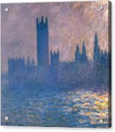 Houses Of Parliament - Sunlight Effect Acrylic Print
