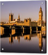Houses Of Parliament With Westminster Bridge. Acrylic Print