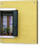 Houses Of Venice - Yellow  Acrylic Print