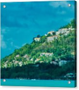 Houses On Hillside In St Lucia Acrylic Print