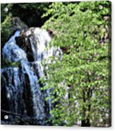Houston Brook Falls Square Acrylic Print