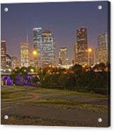 Houston Cityscape1 Acrylic Print