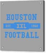 Houston Oilers Retro Shirt Acrylic Print