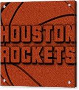 Houston Rockets Leather Art Acrylic Print