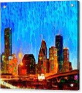 Houston Skyline 110 - Pa Acrylic Print