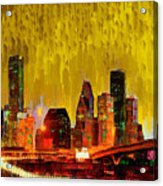 Houston Skyline 111 - Pa Acrylic Print