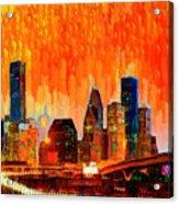 Houston Skyline 116 - Pa Acrylic Print