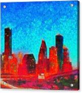 Houston Skyline 131 - Pa Acrylic Print