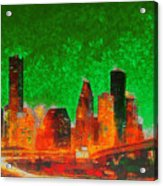 Houston Skyline 133 - Pa Acrylic Print