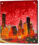 Houston Skyline 134 - Pa Acrylic Print