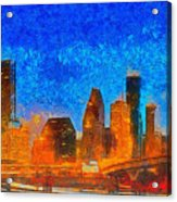 Houston Skyline 40 - Pa Acrylic Print