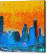 Houston Skyline 41 - Pa Acrylic Print