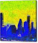 Houston Skyline 42 - Pa Acrylic Print