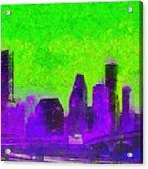 Houston Skyline 43 - Pa Acrylic Print