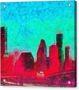 Houston Skyline 44 - Pa Acrylic Print