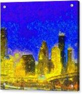 Houston Skyline 45 - Pa Acrylic Print