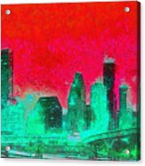 Houston Skyline 47 - Pa Acrylic Print