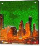 Houston Skyline 48 - Pa Acrylic Print
