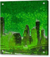 Houston Skyline 51 - Pa Acrylic Print