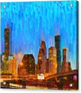 Houston Skyline 80 - Pa Acrylic Print