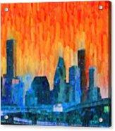 Houston Skyline 81 - Pa Acrylic Print