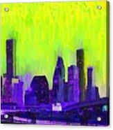 Houston Skyline 84 - Pa Acrylic Print