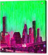 Houston Skyline 86 - Pa Acrylic Print