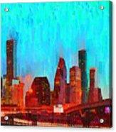 Houston Skyline 87 - Pa Acrylic Print
