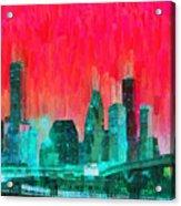 Houston Skyline 91 - Pa Acrylic Print