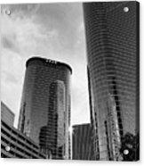 Houston Skyscrapers Black And White Acrylic Print