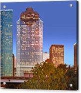 Houston Texas Skyline At Dusk Acrylic Print
