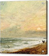 Hove Beach Acrylic Print by John Constable