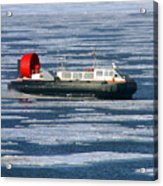 Hovercraft On Frozen Artic Ocean Acrylic Print