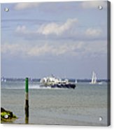 Hovercraft Passing Ryde Harbour Mouth Acrylic Print