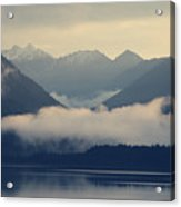 Hovering Cloud At Lake Sylvenstein Acrylic Print
