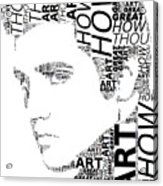 How Great Thou Art Elvis Wordart Acrylic Print