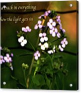 How The Light Gets In Acrylic Print